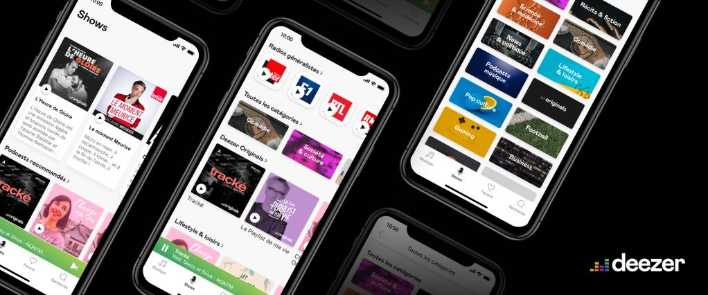 les services de Deezer accessibles sur smartphone